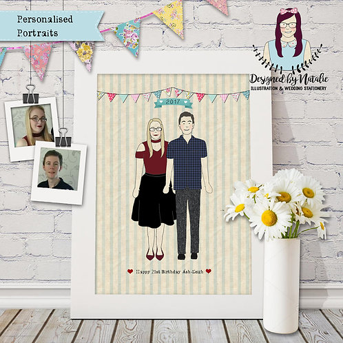 Personalised Portrait print