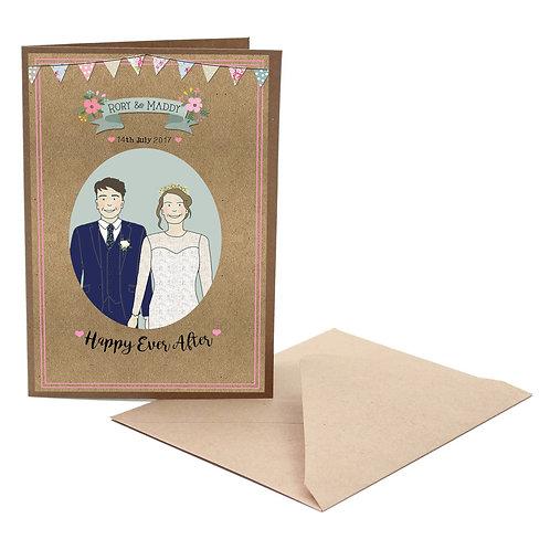 Personalised wedding/engagement card