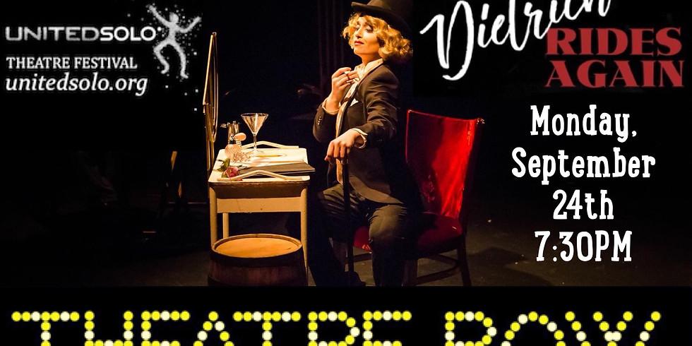 Dietrich Rides Again at the United Solo Theatre Festival