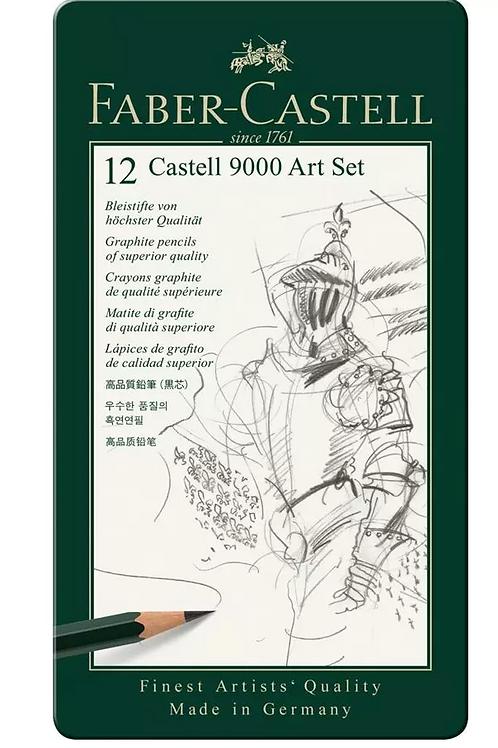 Set 12 Lápices Grafito Faber Castell 9000