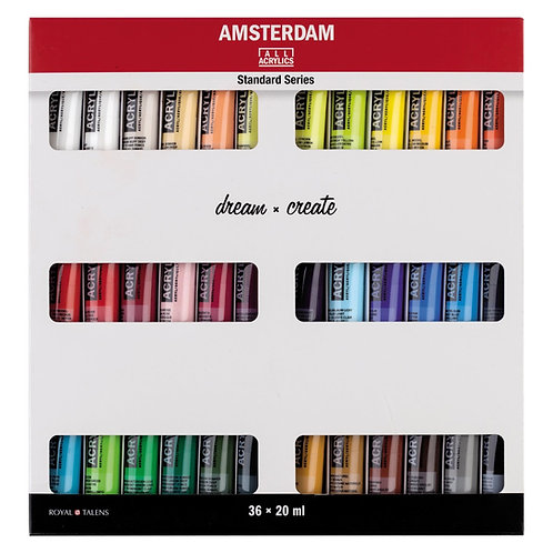Set 36 Acrílicos Amsterdam 20ml