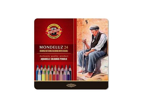 Set 24 Lápices Acuarelables Mondeluz Koh-i-Noor