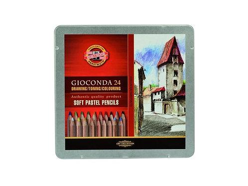 Set 24 Lápices Pastel Gioconda Koh-i-Noor