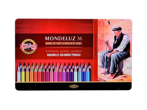 Set 36 Lápices Acuarelables Mondeluz Koh-i-Noor