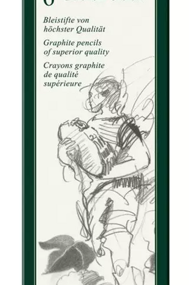 Set 6 Lápices Grafito Faber Castell 9000