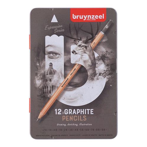 Set 12 Lápices Grafito Bruynzeel