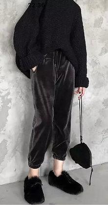 Pants de terciopelo con cintura ajustable