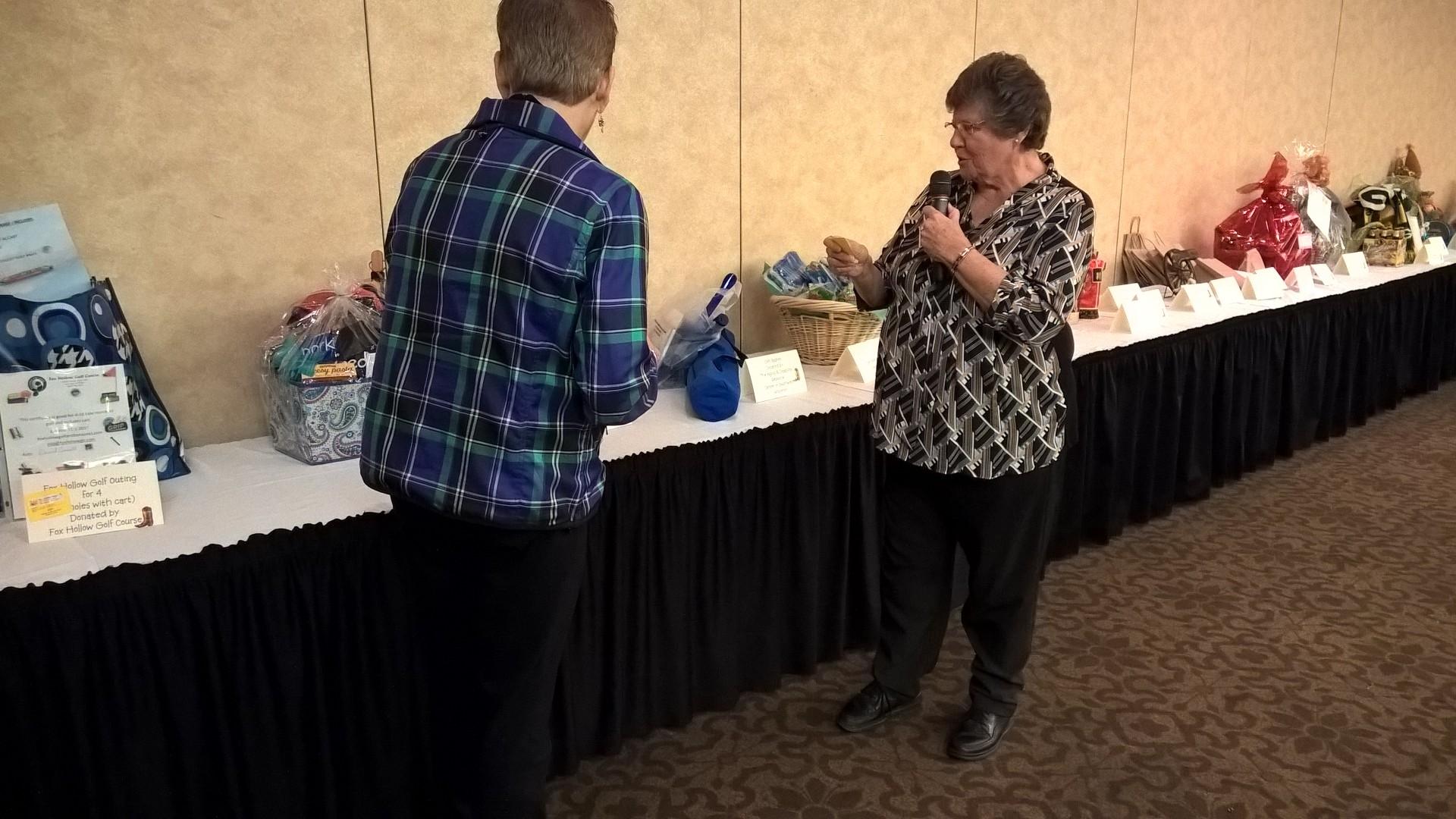 Awarding Raffle Prizes