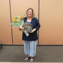 Jennifer Frank with her Award