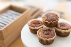 Chocolate-Filled Friands, Orange & Poppy Seeds Friands, Pecan & Cinnamon Friands