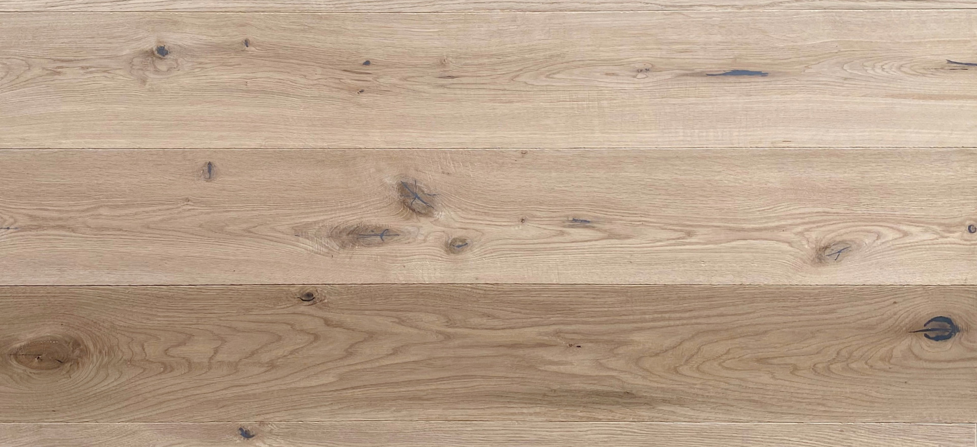 """Handscraped White Oak (Gravity Collection Only)  Filled knots 45mm+ (~1 3/4"""") allowed, mid to high colour variation, sapwood and cracks (filled) allowed."""