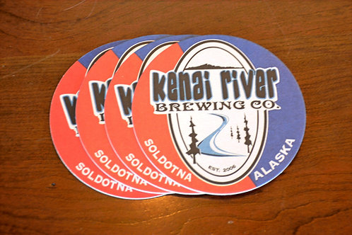 Red & Blue KRBC Logo- Coasters