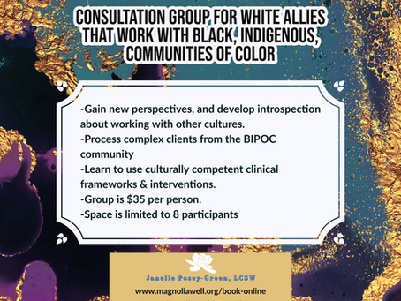 Consultation Group for White Allies That Work With Black, Indigenous, Communities of Color