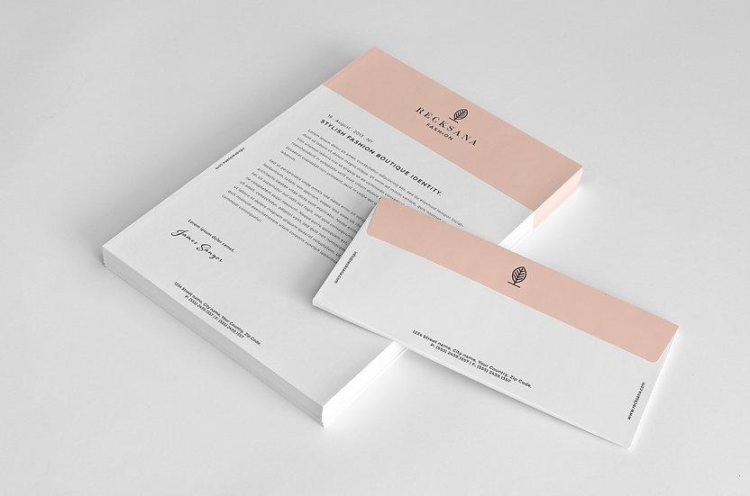 Stylish Stationery Letterhead & Invoice