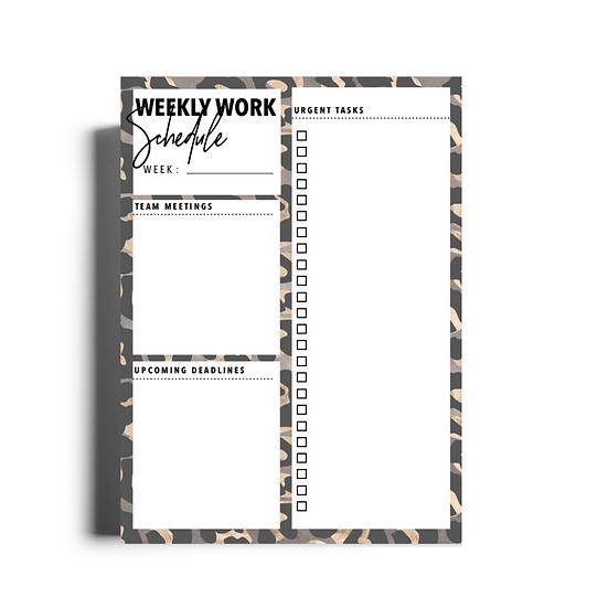 Brave Weekly Work Schedule