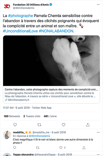 30 Millions d'Amis Pamela chemla Twitter