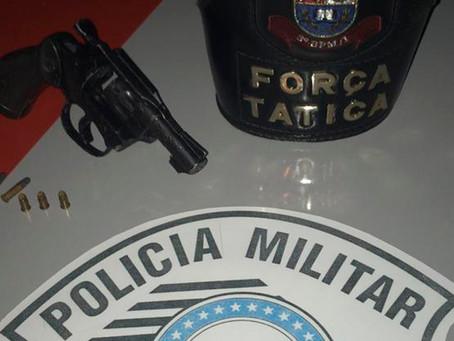 Arma ilegal sem numeração é apreendida pela força tática