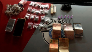 Drogas são encontradas com casal no bairro Mario Marconi em Jardinópolis