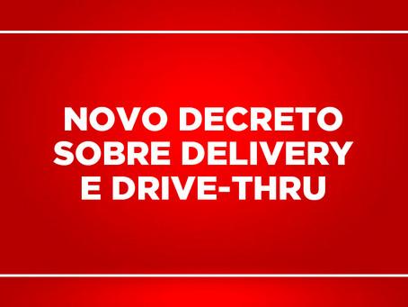 Prefeitura publica outro decreto flexibilizando um pouco o drive-thru e o delivery