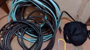Homem detido em flagrante por furto de fios em Jardinópolis