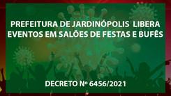 Prefeitura de Jardinópolis libera eventos em salões de festas e bufês