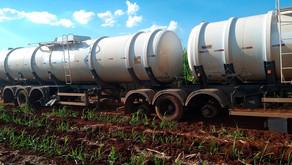 Semi reboque tanque roubado é encontrado em canavial na área rural de Jardinópolis