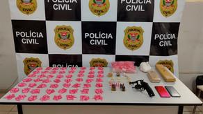 Polícia Civil apreende drogas e arma de fogo em Jardinópolis