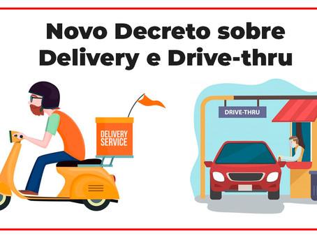 Novo Decreto da Prefeitura com regras para Delivey e Drive-thru