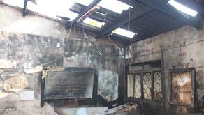 Incêndio destrói parte de uma casa em Jardinópolis