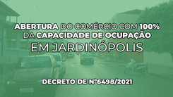 Jardinópolis decreta abertura de todos os comércios com 100% da capacidade de ocupação