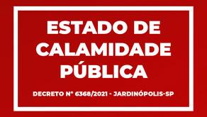 Prefeito declara Estado de Calamidade Pública em Jardinópolis; entenda o que isso quer dizer