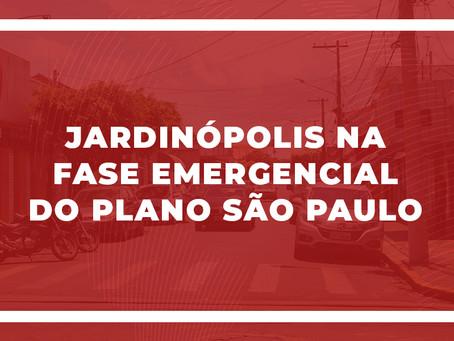 Jardinópolis na 'Fase Emergencial' do Plano São Paulo