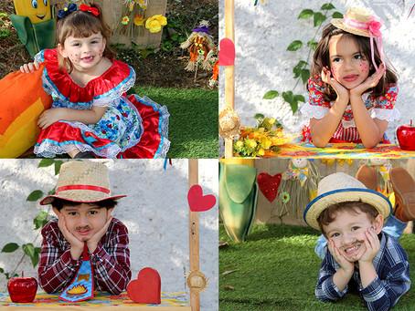 Em Foco: Os caipirinhas Julia, Betina, Rafael e Davizinho