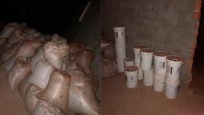 110 sacas de soja e 13 galões com fertilizantes furtados foram recuperados pela PM de Jardinópolis