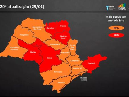 Região em que Jardinópolis faz parte entra totalmente na fase vermelha