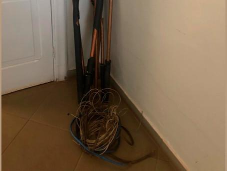 PM apreende barras de cobre e fios elétricos furtados em Jardinópolis