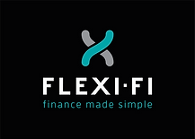 Flexi-Fi Logo Portrait - Black Backgroun
