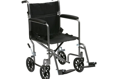 Drive Medical Lightweight Steel Travel Wheelchair