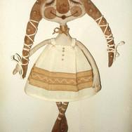Кукла Настя. (текститль, акрил)