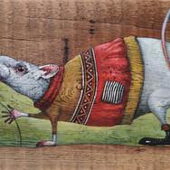 Крыс Борис. (дерево, акрил)