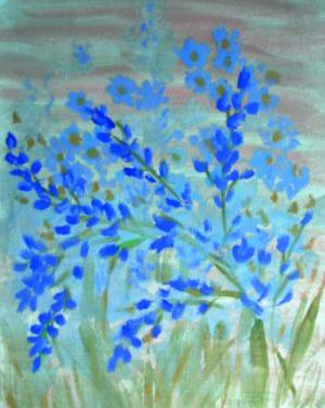 Синее в поле