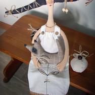 Кукла Марина с кошкой. (текстиль, акрил)