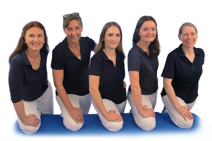 5 diplomierte Physiotherapeutinnen