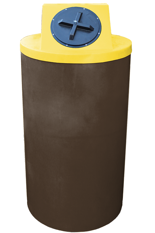 Brown Big Bin with Yellow Lid