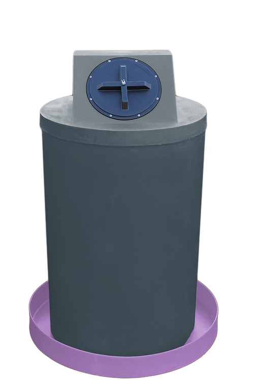 Dark Gray Drum Crown with Purple spill pan