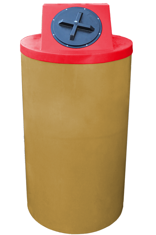 Gold Big Bin with Red Lid