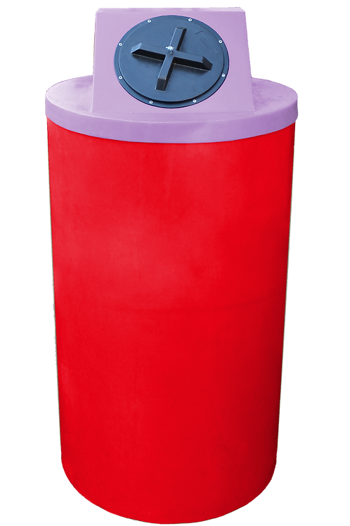 Red Big Bin with Purple Lid