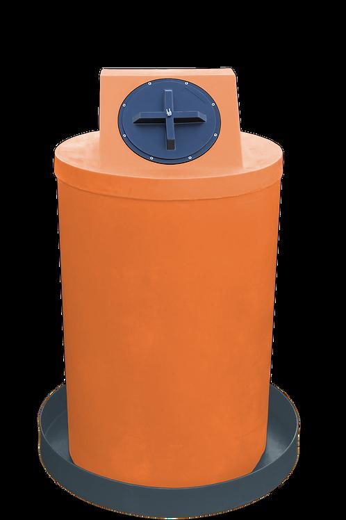 Orange Drum Crown with Dark Gray spill pan