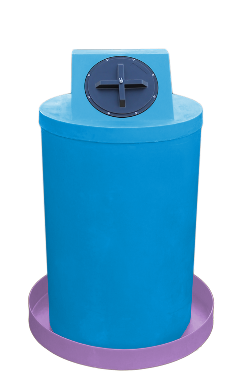Cadet Blue Drum Crown with Purple spill pan