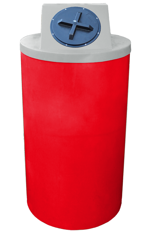 Red Big Bin with Light Gray Lid